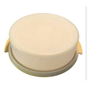 """VTG Tupperware Harvest Gold Bottom Round 10"""" Cake/"""